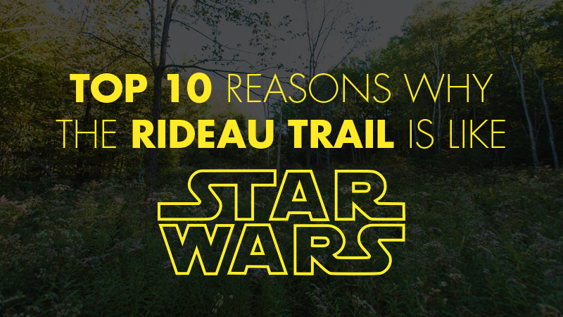 top 10 reasons why the rideau trail is like star wars rideau trail association rideau trail. Black Bedroom Furniture Sets. Home Design Ideas