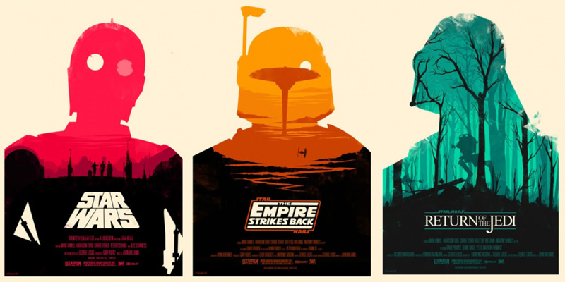 Posters for Star Wars The Empire Strikes Back and Return of the Jedi