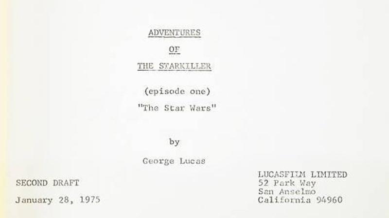 Star Wars Script 1975
