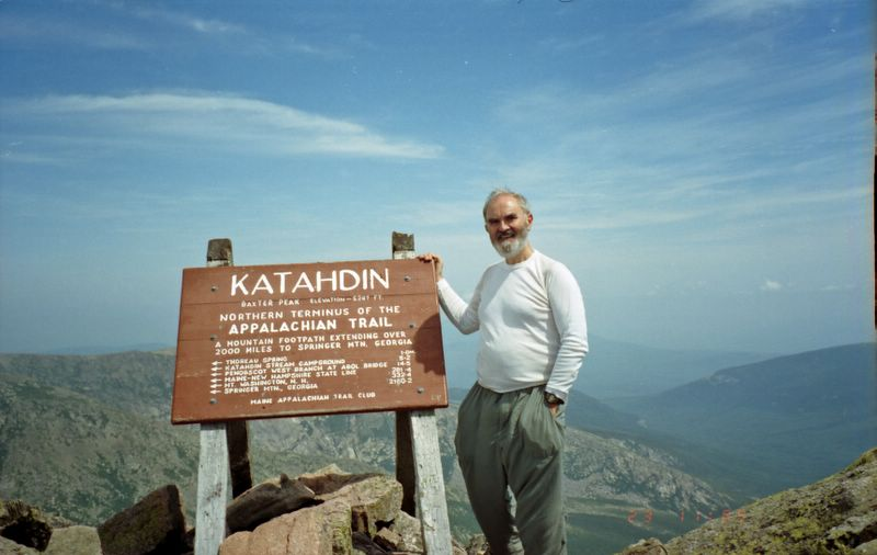 Frodo on top of Katahdin